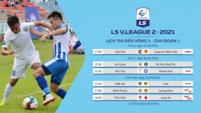 Khai mạc Giải hạng Nhất Quốc gia LS V.League 2 năm 2021
